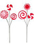 "Peppermint Spray - 17"" Tall - Box of 12 - Red & White"