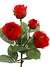 "Rose Spray - 15.4"" Tall - Box of 24 - Choice of Color"