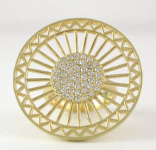 Theorem Wheel Ring, 18K yellow gold with pave set diamonds