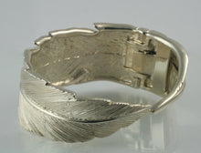 Feather Cuff Bracelet in Sterling Silver