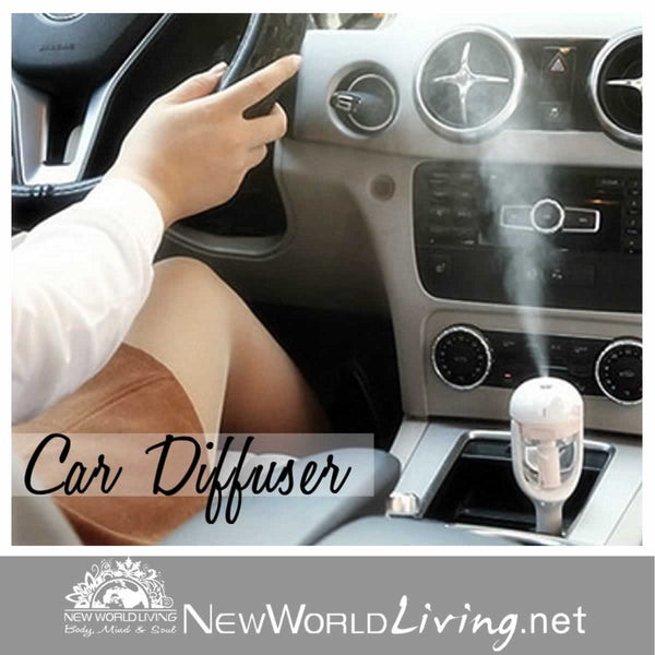 Aromatherapy Car Diffuser. Plug in to your car's cigarette lighter and enjoy essential oils on the go! Free shipping for a limited time at NewWorldLiving.net