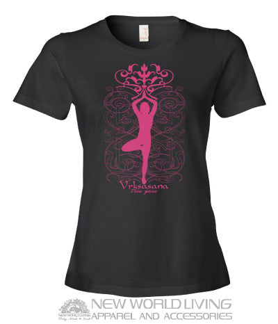 Tree Pose Ladies Tshirt