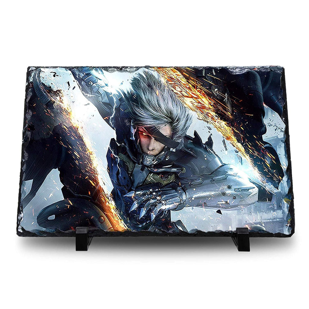Metal Gear Rising: Revengeance - Natural Rock Slate with Stand - Anime Senpai