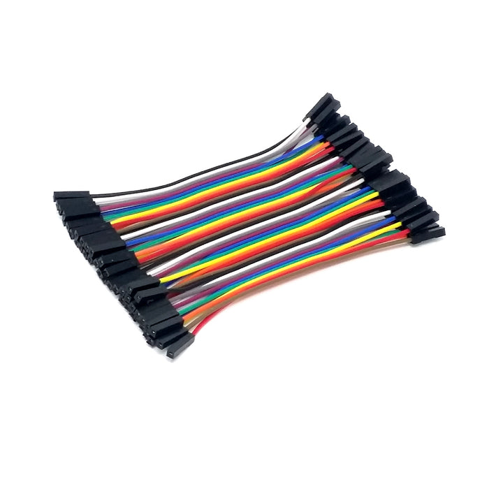 Female-Female Jumper Wires - 40 pcs x 4 in.