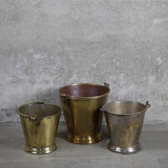 Anglo-Indian Brass Ice Bucket - Medium