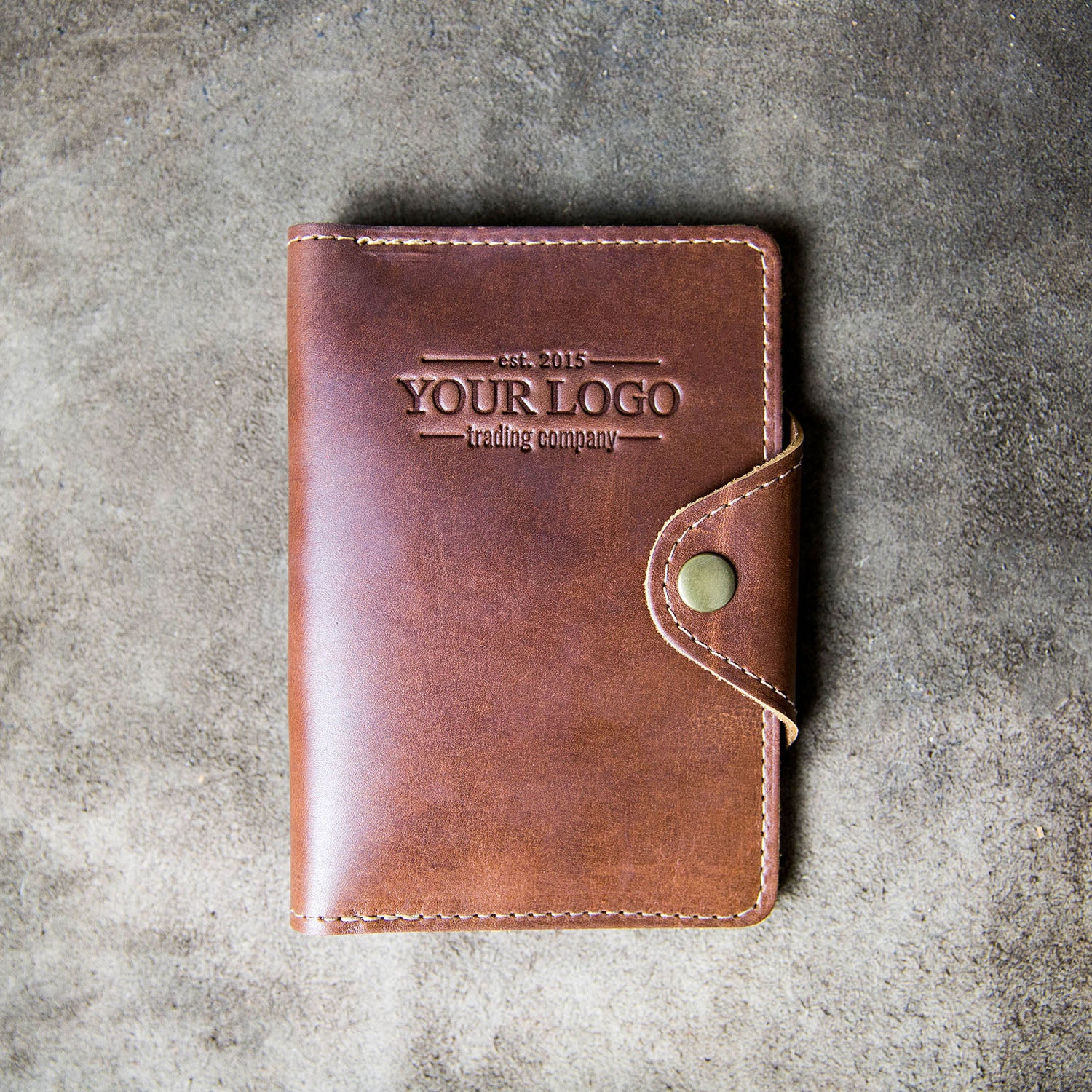 The Logbook Custom Logo Fine Leather Field Notes Moleskine Wallet Pocketbook Cover Put Your Logo On It Corporate