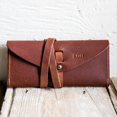 The Kiley Fine Leather Wrap Wallet Pocketbook Checkbook Cover