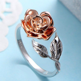 Lance Sweet Rose Flower shaped Open Ring Wholesale Fashion Jewelry