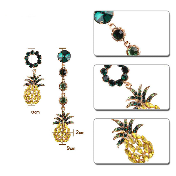 Lance Bright Zircon Pineapple Earrings Gemstone Earring