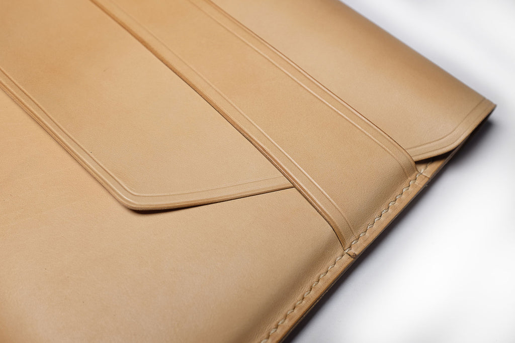 Making a veg tanned leather iPad case, all by hand/video tutorial