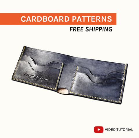 BIFOLD WALLET I - cardboard patterns + video tutorial