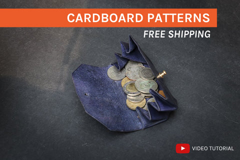ORIGAMI COIN POUCH II - cardboard patterns + video tutorial