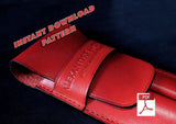 LEATHER PEN CASE - PDF patterns + video tutorial