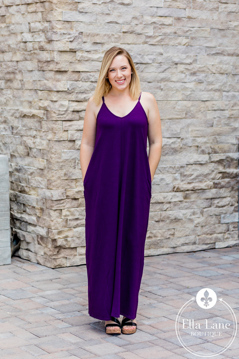 Bethany Cami Maxi Dress - Dark Purple