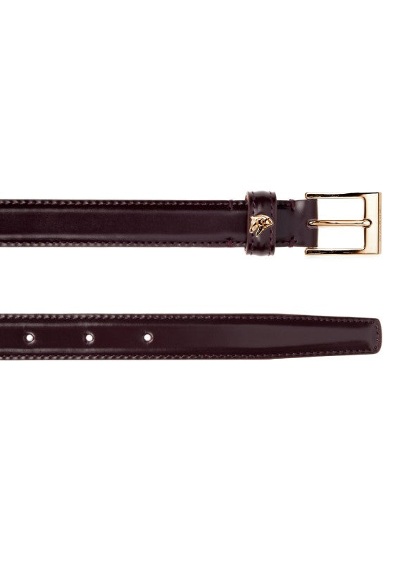 Miasuki leather belt amarone