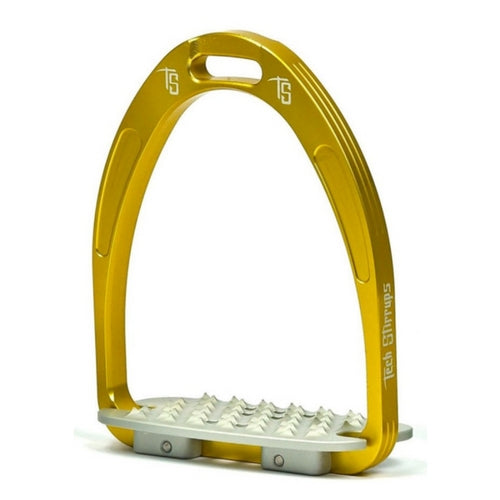 Tech stirrups iris cross country in gold from Equissimo