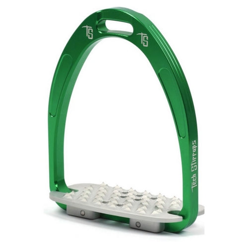 Tech stirrups iris cross country in green from Equissimo