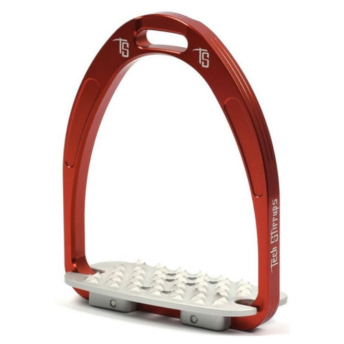 Tech stirrups iris cross country in red from Equissimo