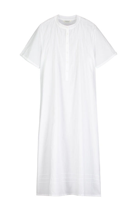 Victoria Short Sleeve Nightdress (3407) - White