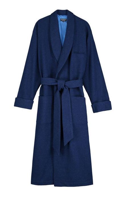 Silk-Lined Wool Robe (wlmd) - Royal