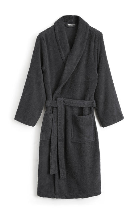 Unisex Towelling Robe. (scbr) - Charcoal