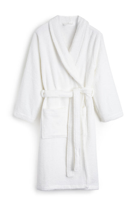 Unisex Towelling Robe. (scbr) - White