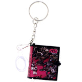 Mini Zen Book With Magnifying Glass Split-Ring-Keychain Red/Black