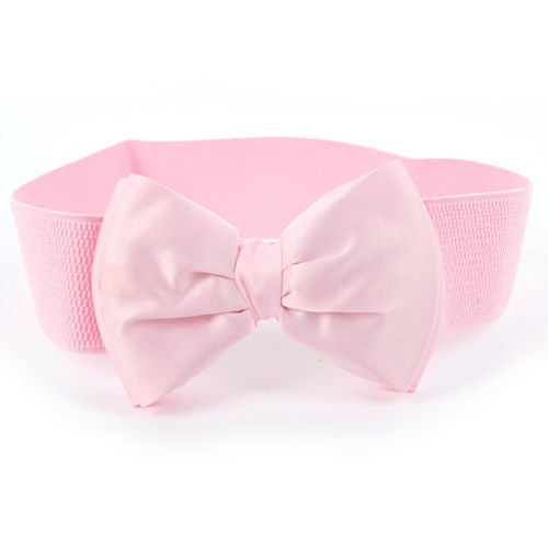 Bowknot Stretch Elastic Bow  Waist Belt
