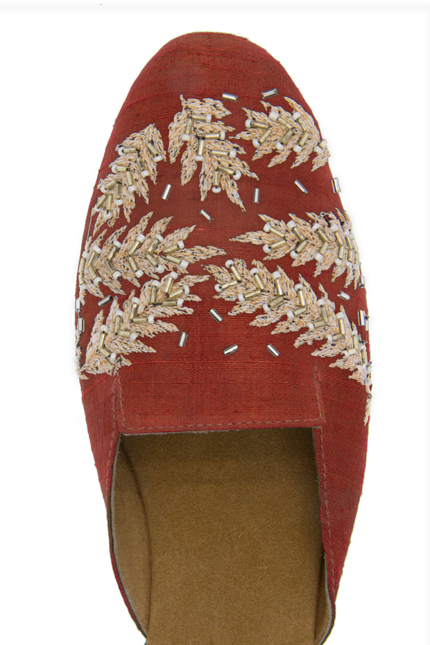 Fern Personalized Embroidered Mule