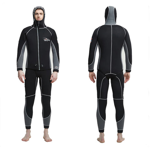 KEEP DIVING Mens 7MM 2 Piece Plus Size Cold Water Wetsuit
