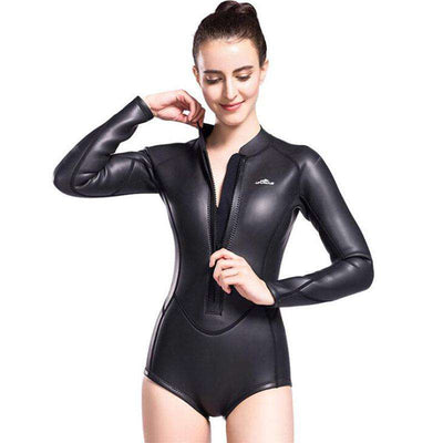 LIFURIOUS Ladies 3mm Smooth Skin Rubber Springsuit Free Diving Wetsuit