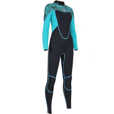 SLINX Women's 2mm Long Sleeve Long Leg 1-Piece Neoprene Diving Wetsuit
