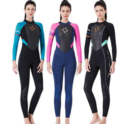 Dive & Sail Ladies 3mm Freediving Surfing Wetsuit Winter Full Suit