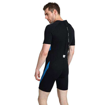 LAYATONE Mens 3mm Shorty Wetsuit Snorkeling Surfing Suit with Back Zip