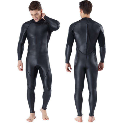 MYLEDI Men's 3MM Smooth Skin Full Wetsuit Warm Rubber Free Diving Suit