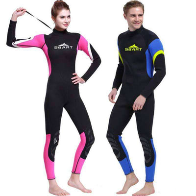 Sbart 3MM Colorful Full Length Wetsuit Back Zip Diving Surfing Suit