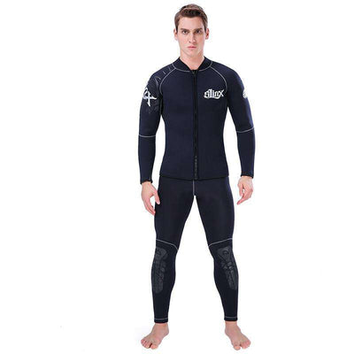 SLINX 5MM Plus Size Neoprene Wetsuit Jacket Warm Diving Top