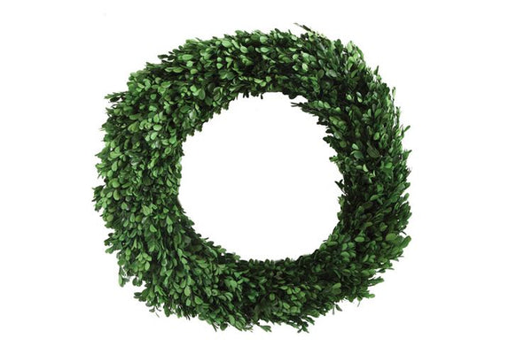 Preserved Real Boxwood Wreath