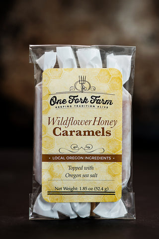 One Fork Farm Caramels - 1.8oz. Wildflower Honey Caramels