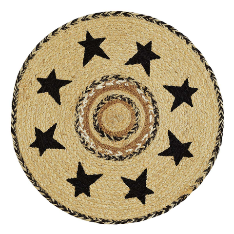 "13"" Kettle Grove Round Mat - Simple Pleasures ~ Bountiful Treasures"