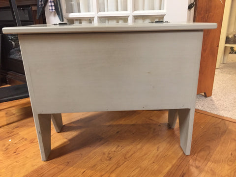 Gray Storage Bench