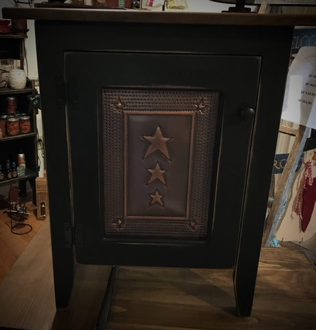 Single Door Punched Tin Cabinet