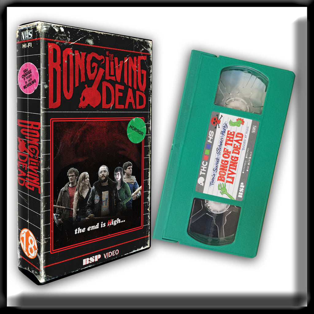 Bong of the Living Dead  (VHS) SIGNED GREEN VHS