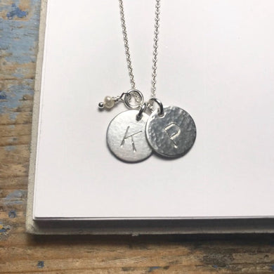 Medium Initial Circle Necklace - from $32.50