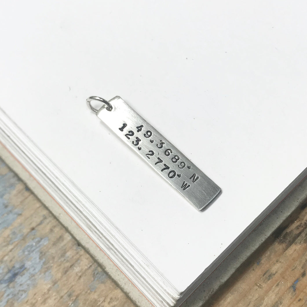 Large Long Tag - optional 2-side stamping- from $28