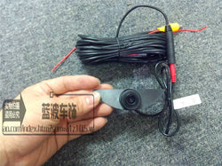 Front CCD camera w/ 6 m video cable for Nissan Vehicles front emblem mounted