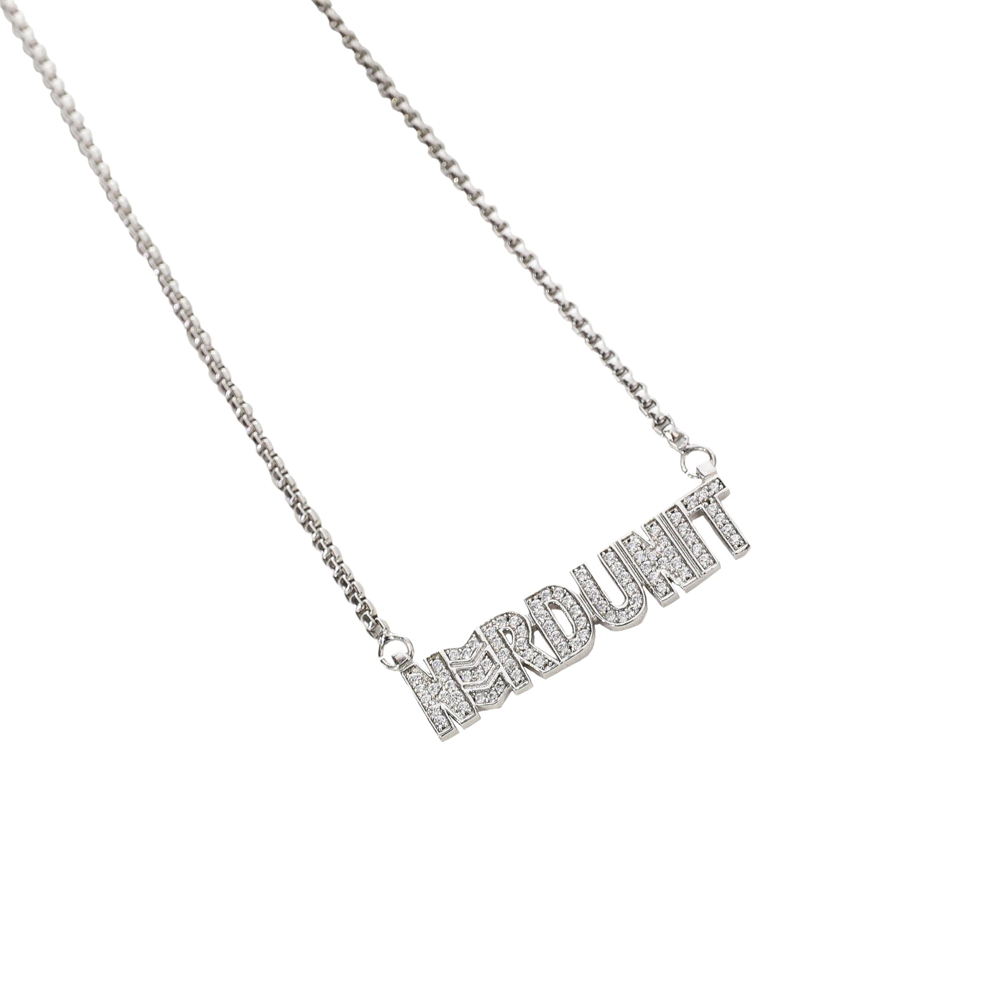 NAMEPLATE RHINESTONES NECKLACE (ネームプレートラインストーンネックレス)