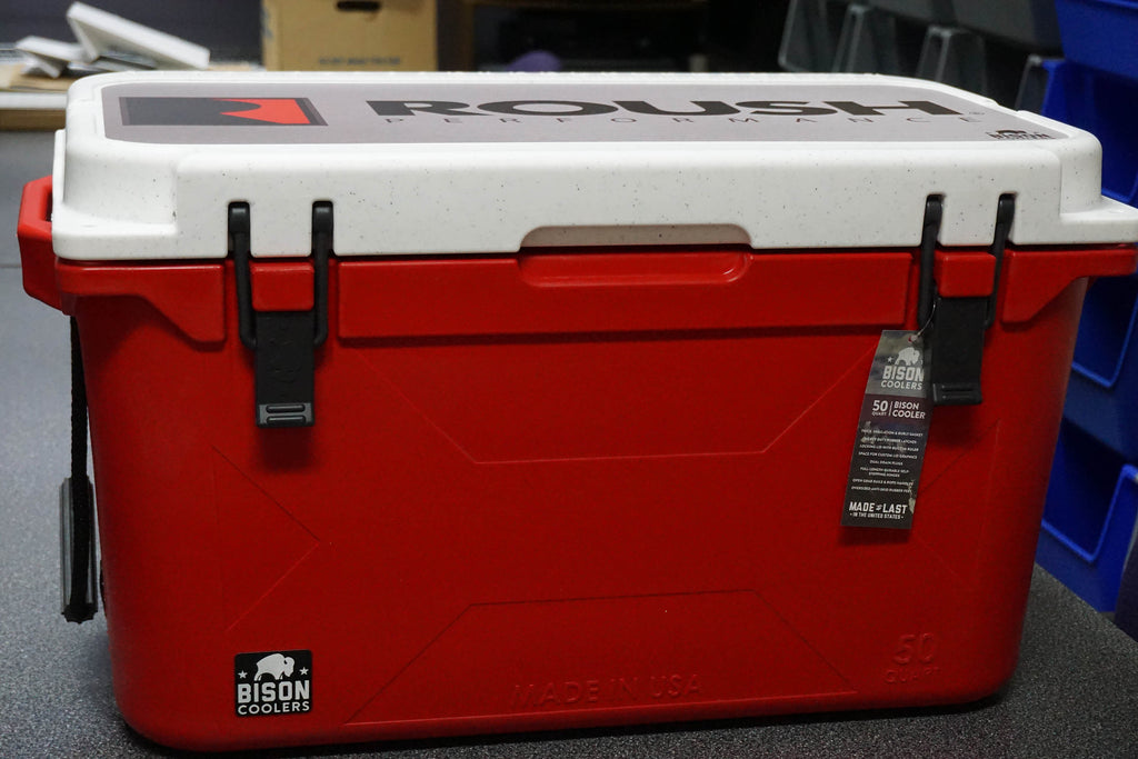 Red Roush Bison 50 QT Cooler - Made In The USA