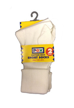 Pex Turn Over Top White Socks