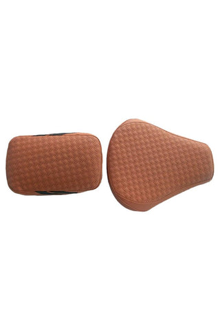 Rodeo Luxury Twin Bike Seat Cover Tan with Black Side Detail for Bullet